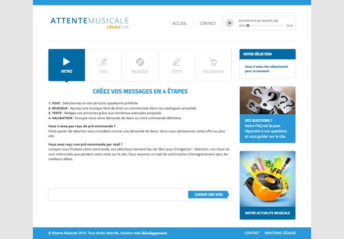 Capture d'écran de Attentemusicale.com