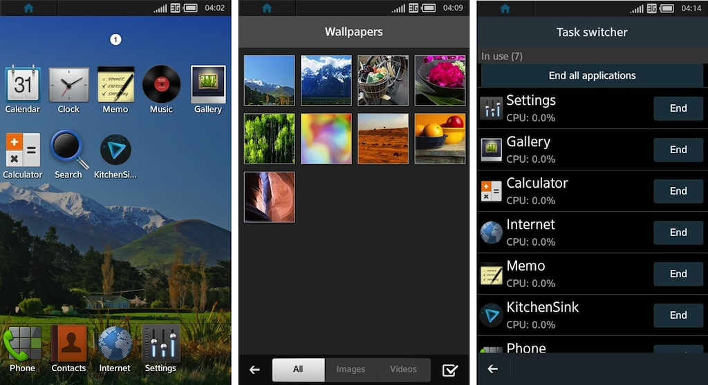 Tizen interface grande