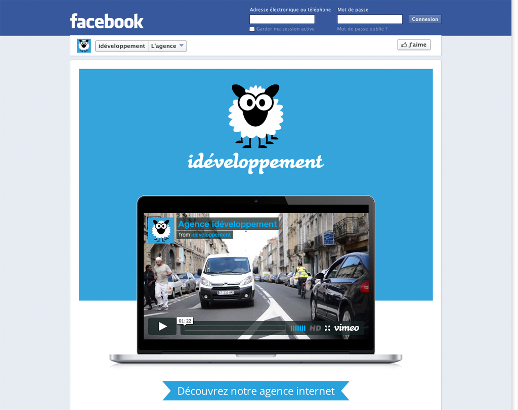 page agence facebook idéveloppement